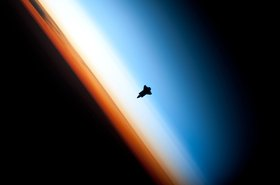 Space Shuttle Endeavour straddles the mesosphere