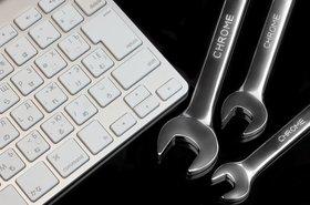 Keyboard, wrench