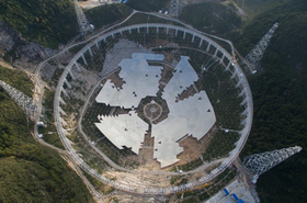 The telescope being built
