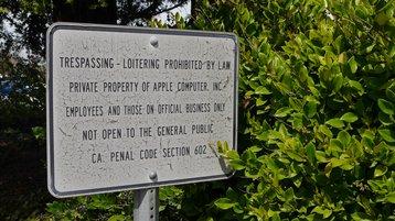 Apple no trespassing
