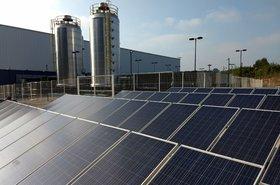 Solar panels at Ascenty data center in São Paulo