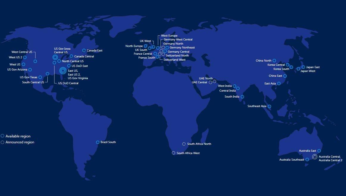 Regions Of Germany Map.Report Microsoft To Launch Azure Regions In Germany Switzerland