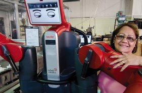 Baxter Research Robot, donated to the OSRF by the Rethink Robotics