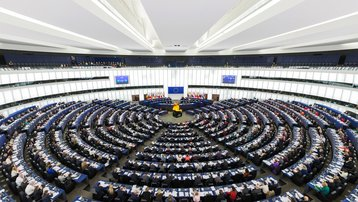 European Parliament Strasbourg dumpster fire