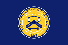 flag of the united states comptroller of the currency