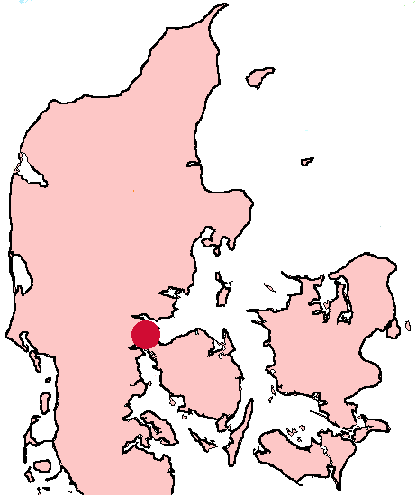 Where Fredericia is in Denmark