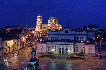Parliament square, Sofia, Bulgaria