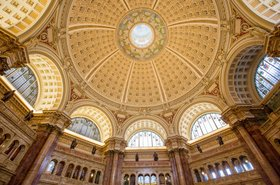 Ceiling and architectural detail of the Library of Congress Reading Room