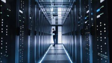 inside a generic data center