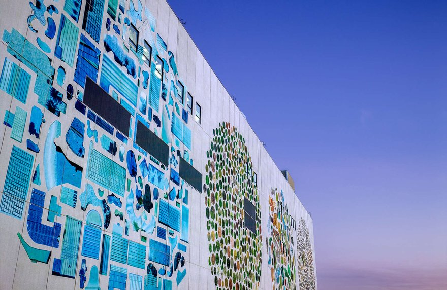 Google data center mural project