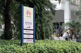 Huawei sign on Shenzhen campus