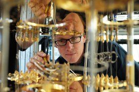 IBM scientist Stefan Filipp, takes a closer look at the dilution refrigerator which will keep qubits at temperatures colder than the deepest parts of outer space.