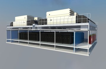 Integrated Modular Datacenter - a data floor