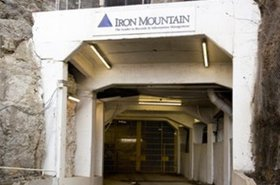 Entrance to Iron Mountain's underground facility in Boyers, Pennsylvania