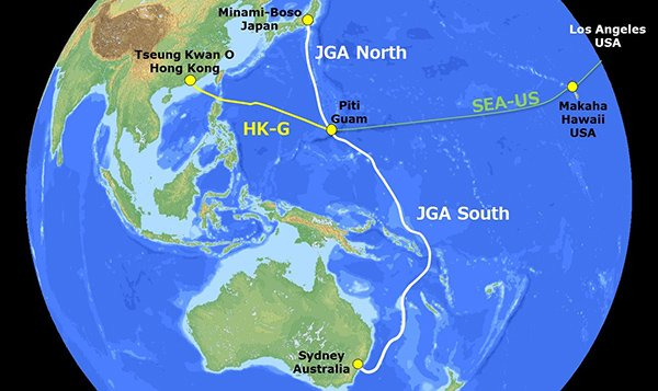 Guam And Hawaii Map.Construction Of Japan Guam Australia Submarine Cable Begins Dcd