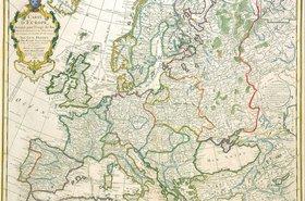 Jean-Claude Dezauche's map of europe, 1789