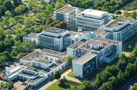 Aerial view of Johannes Gutenberg University Mainz