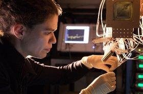Research Scientist Marissa Giustina at the Quantum AI Lab