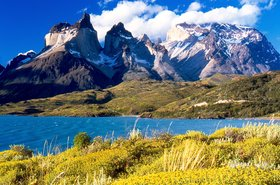 Patagonia: Cuernos del Paine from Lake Pehoé