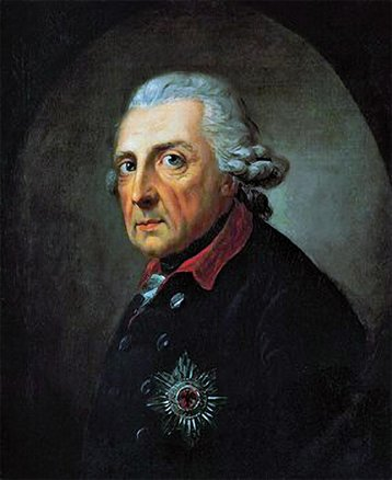 Portrait of Frederick the Great, who King of Prussia is named after