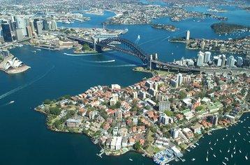 Aerial view of Sydney Harbour Bridge