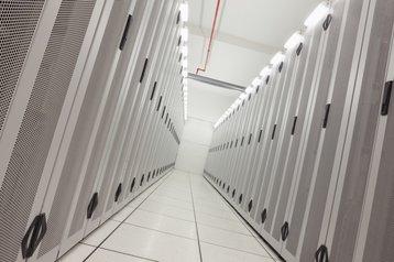 inside a data center somewhere