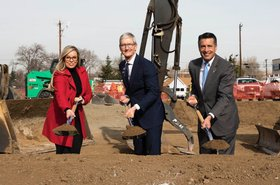 Tim Cook breaks ground in Reno