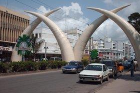tusks in city of mombasa Kenya
