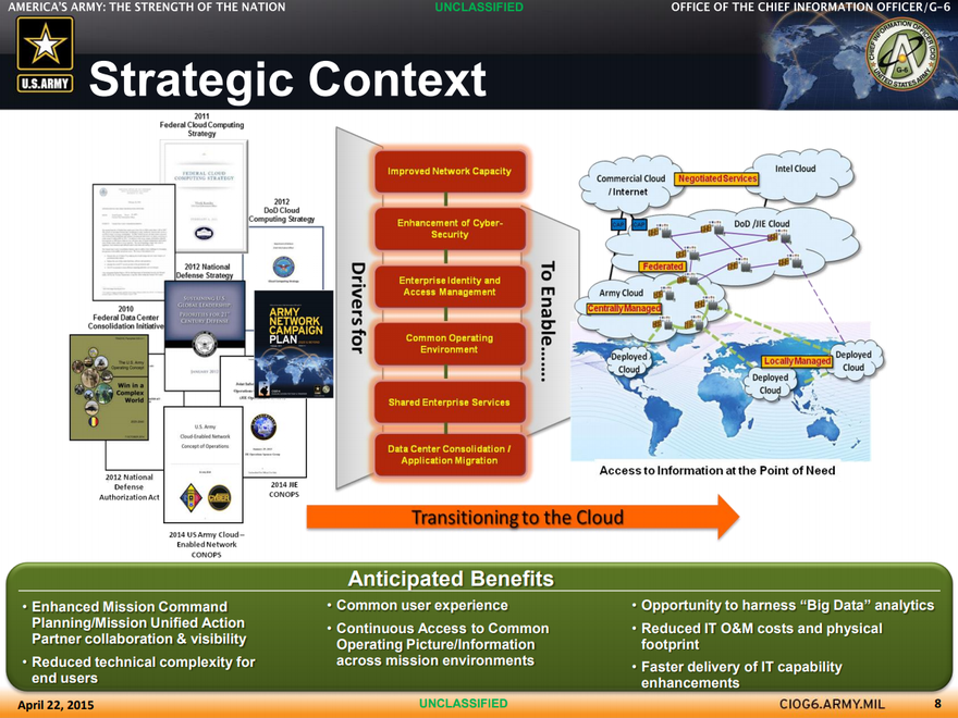 US Army Cloud Computing Strategy (2015)