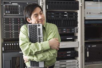 computer server hugger keyboard