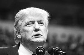 Donald Trump at a Dallas rally