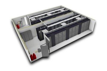 SmartMod data center - 3D render