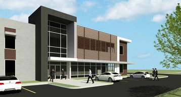 Upcoming data center campus in Hammond - 3D render