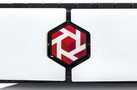 Tintri logo on a grill