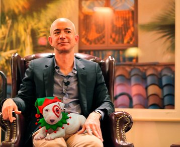 Jeff Bezos and the Target dog
