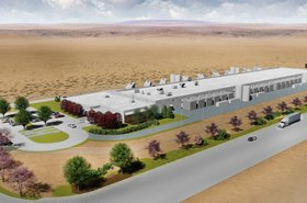 Graphic rendering of Yahoo Japan's planned facility in East Wenatchee, Washington State