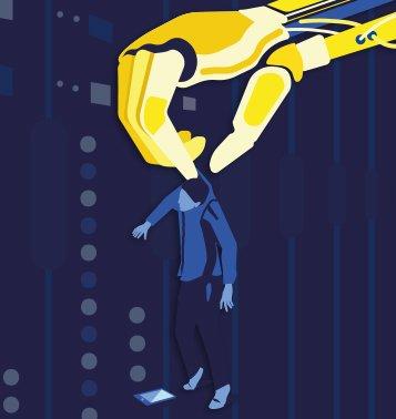 Robot lifting human